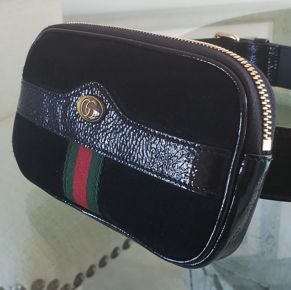 0e60e16cc29a3e Gucci Bags | Ophidia Belt Bag Iphone Case Black Suede | Poshmark